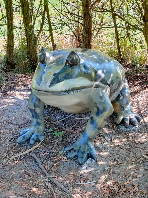 frog statue stanwick lakes