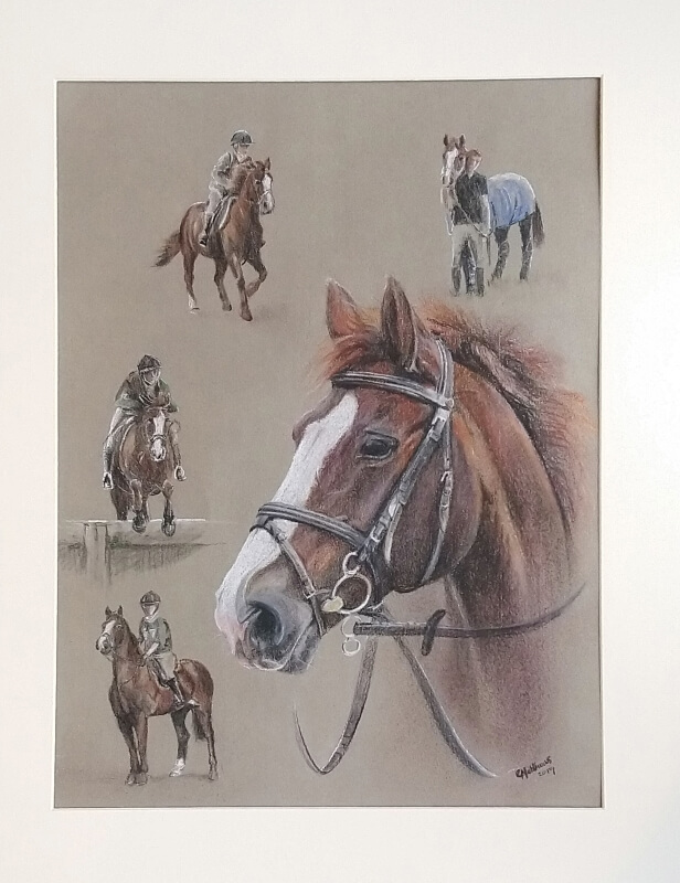 horse painting commission