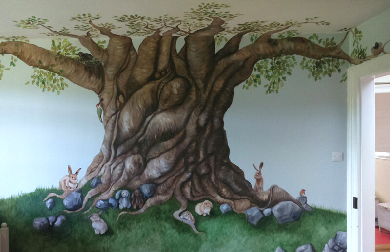 private home mural commission