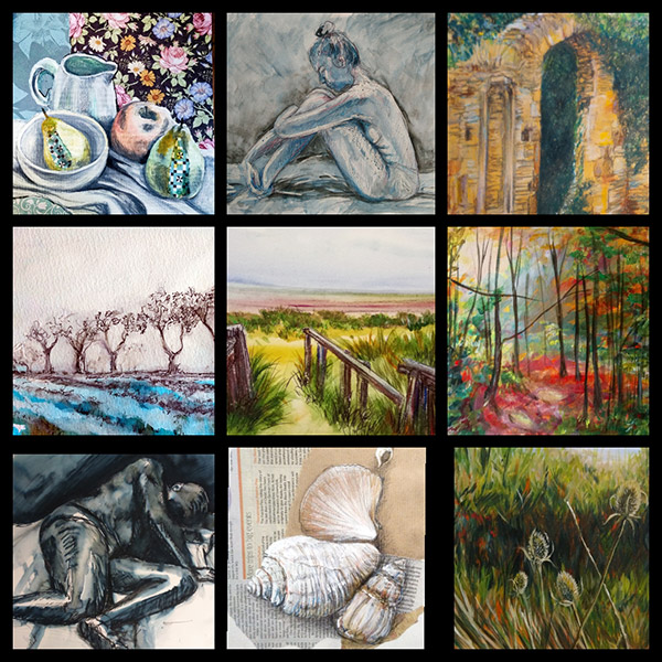 mixed media painting course online workshop