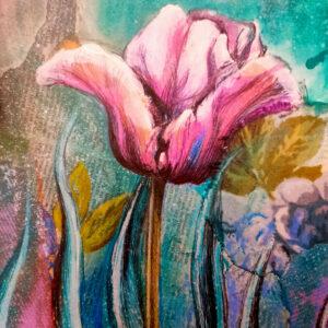 mixed media fresh florals workshop